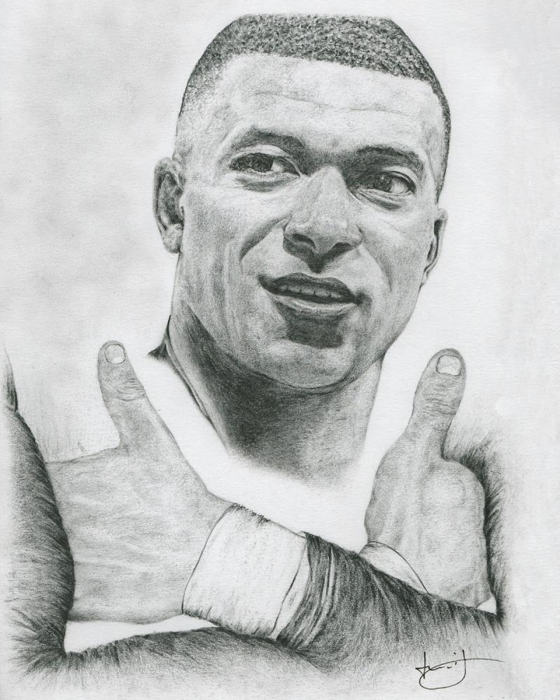 Kylian Mbappé por portraitemoi